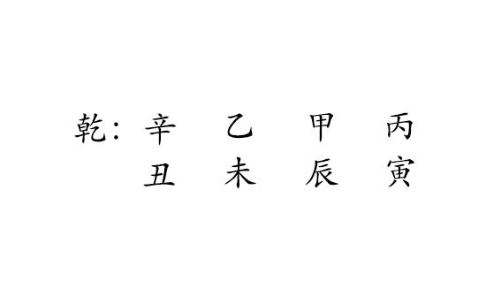 乾 : 辛  丑  乙  未  甲  丙  寅